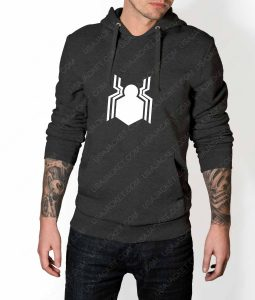 Mens Spiderman Homecoming Suit Logo Grey Hoodie