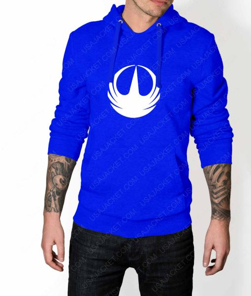 Mens Star Wars Rebellion Logo Blue Hoodie