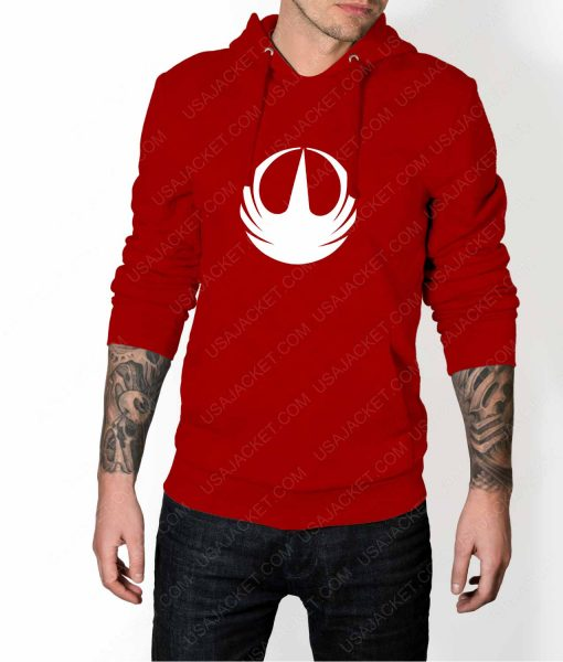 Mens Star Wars Rebellion Logo Red Hoodie