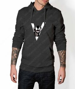 Mens We Are Venom Logo Grey Hoodie