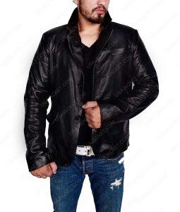 Alex O'Loughlin Moonlight Mick St. John Black Leather Jacket