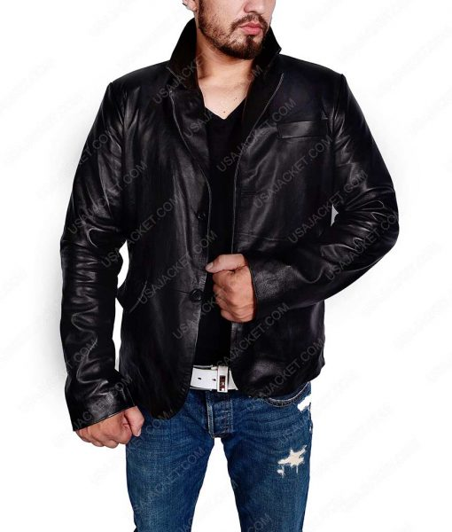 Mick St.John Moonlight Alex O'Loughlin Black Leather Jacket