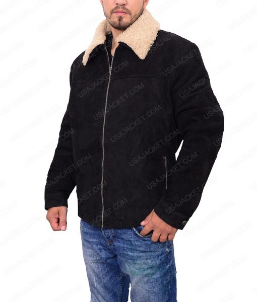 Andrew Lincoln The Walking Dead Rick Grimes Black Suede Jacket