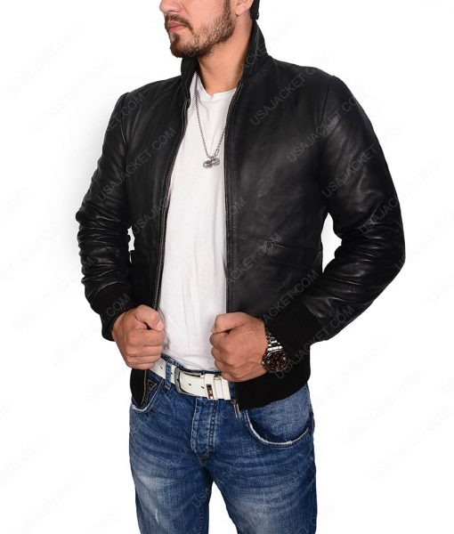 Sylvester Stallone Rocky 2 Tiger Black Leather Jacket