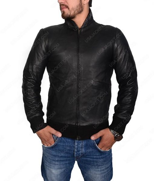 Rocky Balboa Tiger Bomber Leather Jacket