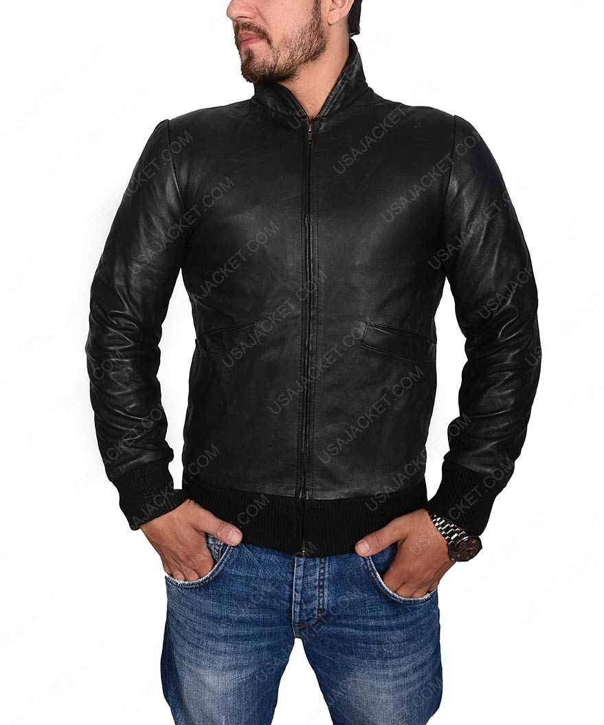 Sylvester Stallone Rocky 2 Rocky Balboa Black Leather Jacket