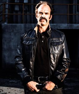 The Walking Dead Steven Ogg Simon Black Leather Bomber Jacket