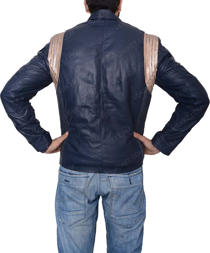 star trek discovery uniform blue leather jacket