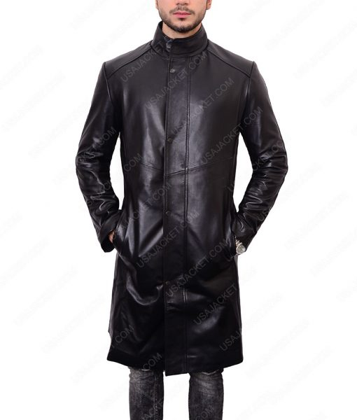 Lorca Star Trek Discovery Jason Isaacs Black Leather Coat