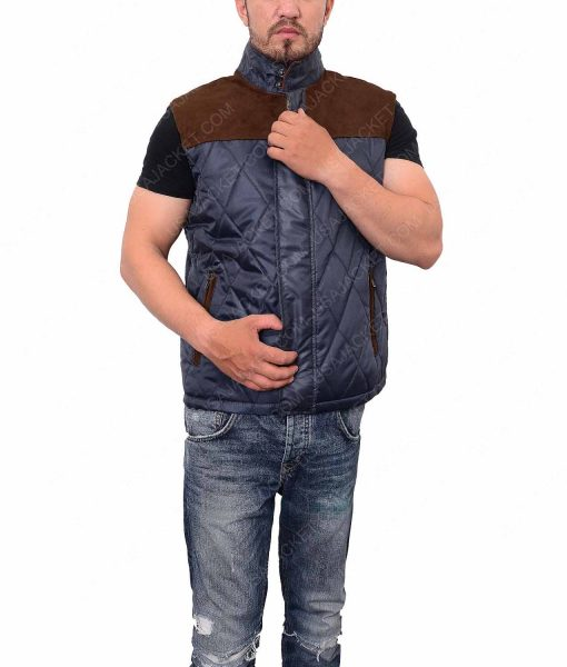 The 5Th Wave Alex Roe Quilted Satin Vest