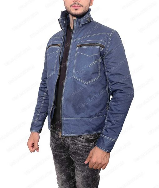 Jay Ryan Beauty And The Beast Vincent Keller Blue Denim Jacket