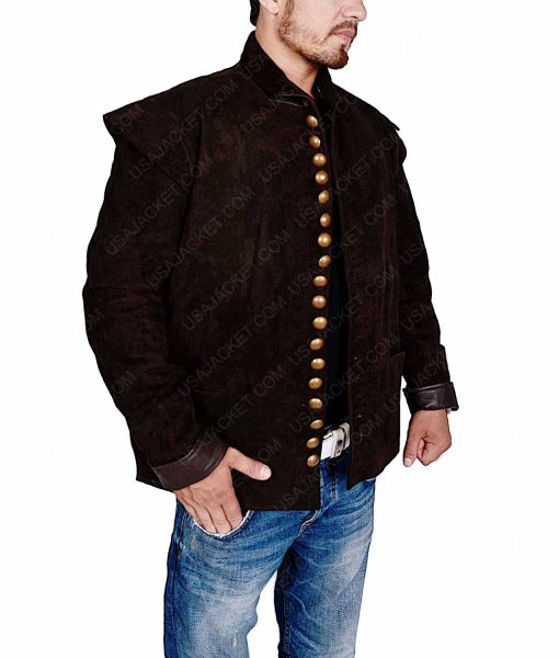 Shakespeare Will William Brown Leather Jacket