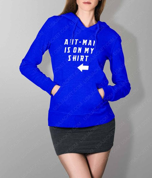 Womens Ant-Man Is On My Shirt Blue Hoodie