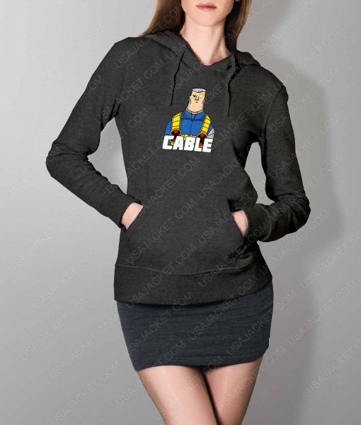 Womens DP2 Cable Grey Hoodie