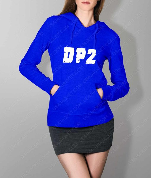 Womens DP2 Logo Blue Hoodie
