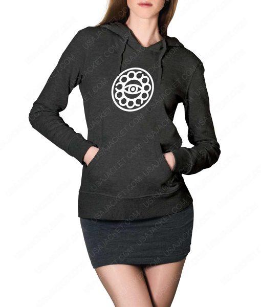 Womens Doctor Strange Eye Of Agamotto Logo Grey Hoodie