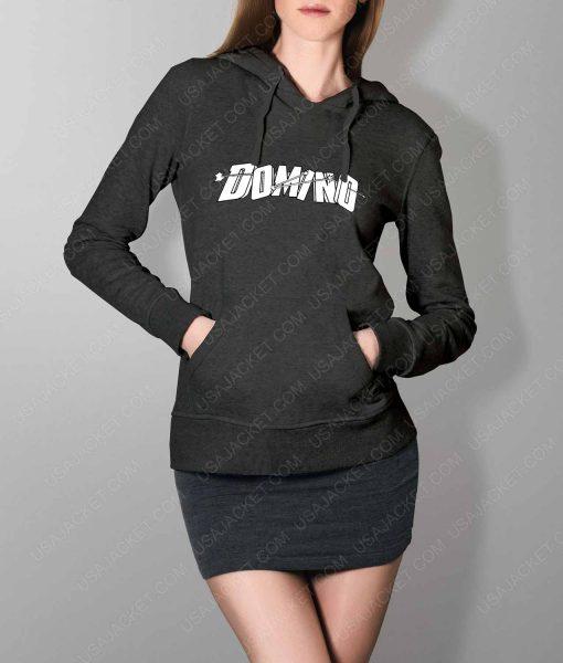 Womens Domino DP2 Grey Hoodie