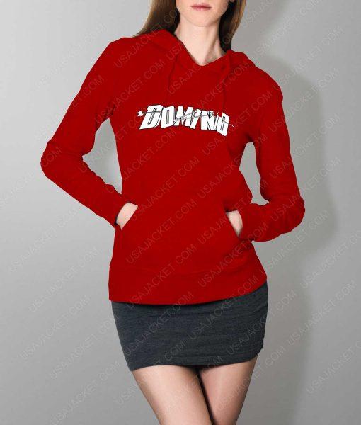 Womens Domino DP2 Red Hoodie