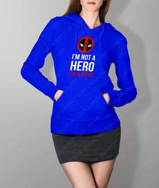 Womens IM A Merc Blue Hoodie