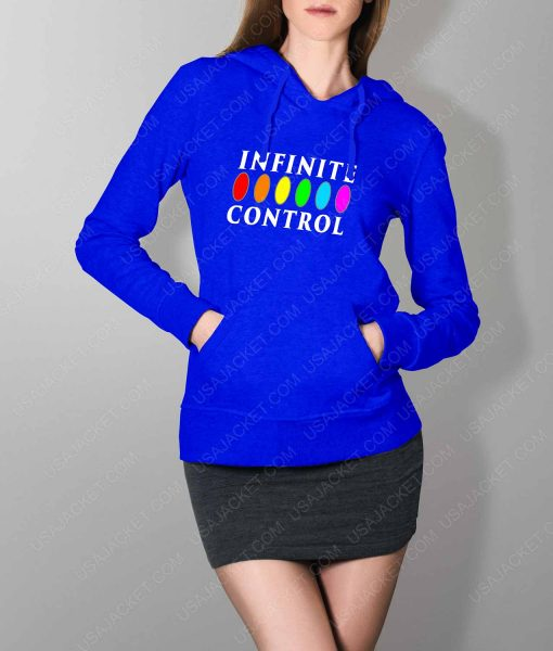 Womens Infinite Control Stone Power Blue Hoodie