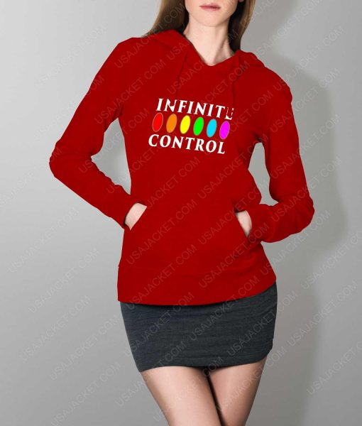 Womens Infinite Control Stone Power Red Hoodie