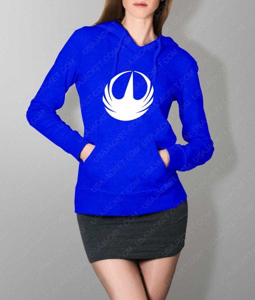 Womens Star Wars Rebellion Logo Blue Hoodie