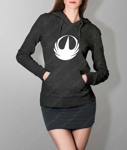Womens Star Wars Rebellion Logo Grey Hoodie