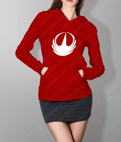 Womens Star Wars Rebellion Logo Red Hoodie