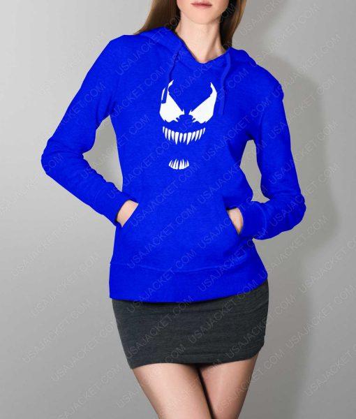 Womens The New Venom Logo Blue Hoodie
