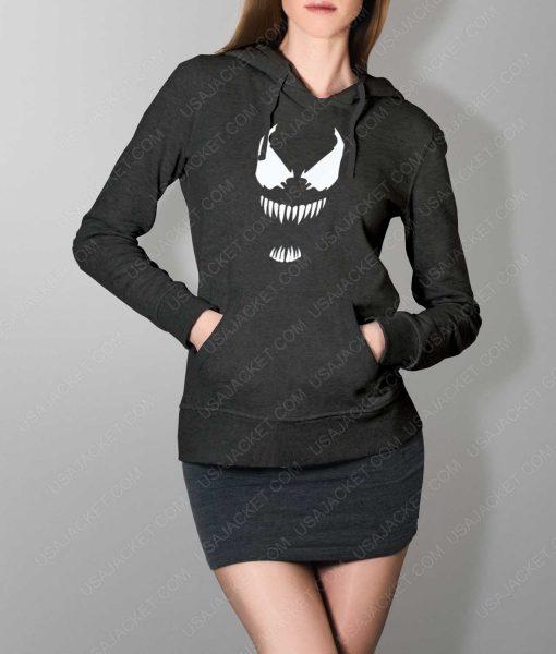 Womens The New Venom Logo Grey Hoodie