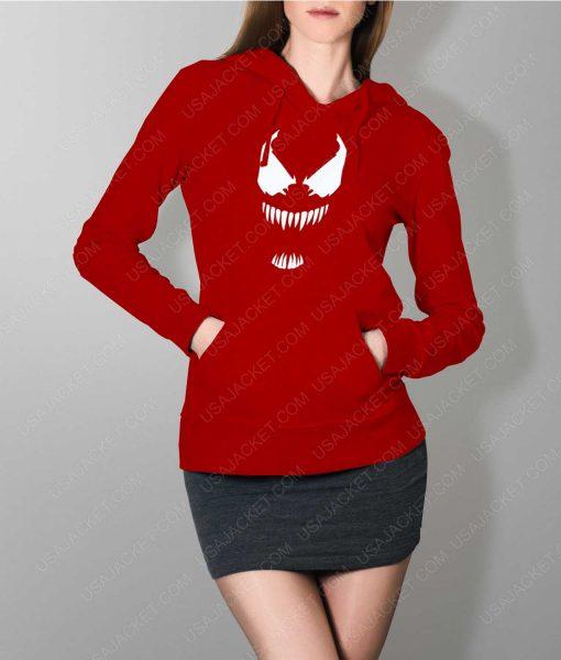 Womens The New Venom Logo Red Hoodie