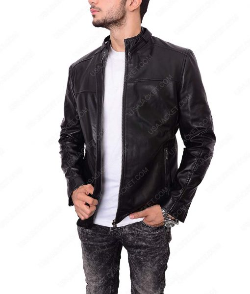 Zayn Malik Black Leather Jacket