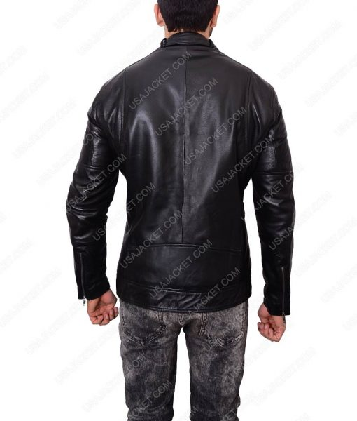 Black Bomber Slim Fit Jacket