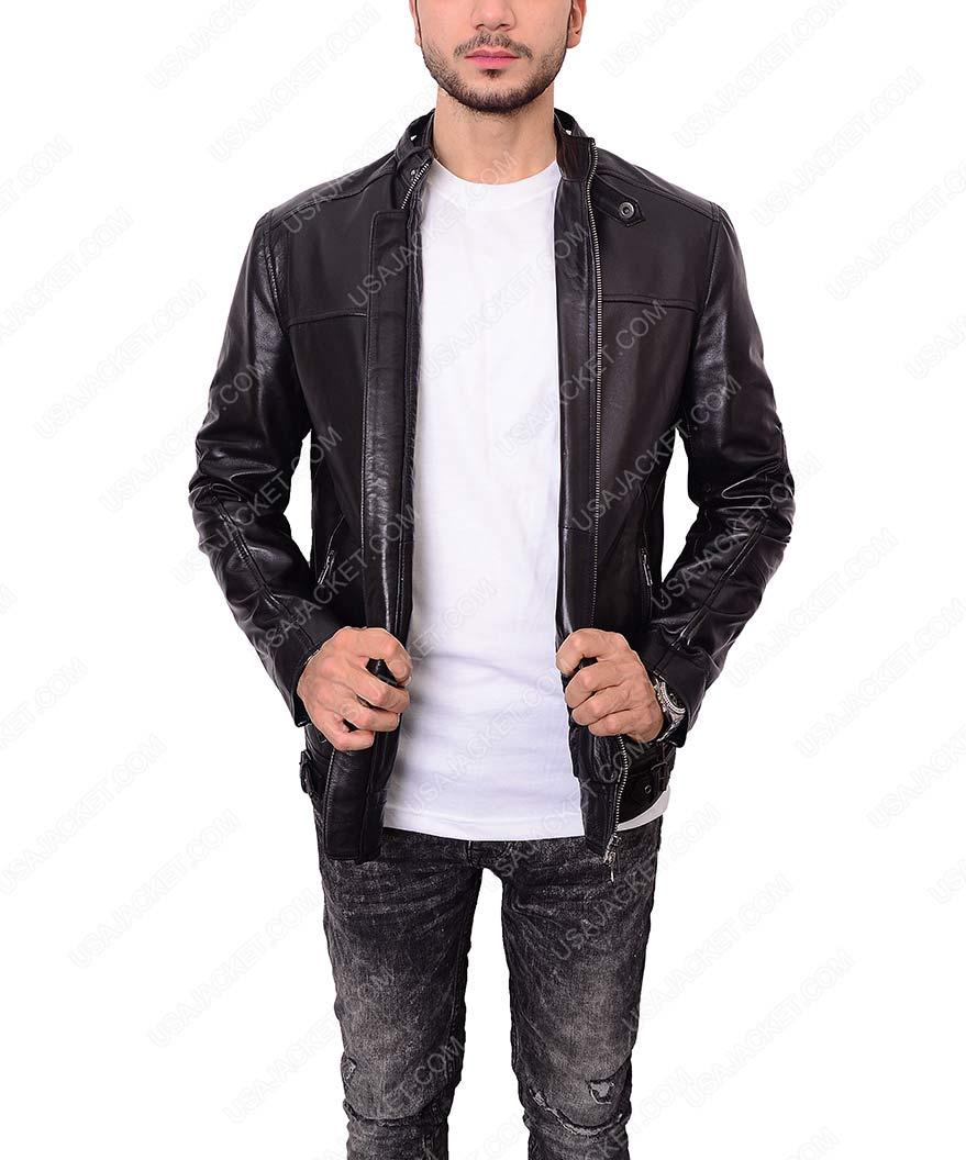 607c64d23 Zayn Malik Black Slim Fit Leather Jacket