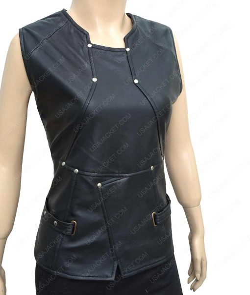 Zoe Saldana Guardians of the Galaxy Vol 2 Gamora Leather Vest
