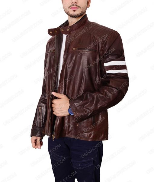92 Classic Brown Vintage Leather Jacket