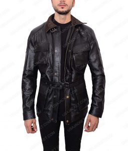 Tom Hardy The Dark Knight Rises Bane Black Leather Jacket