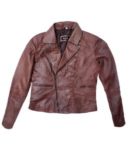 Kristin Kreuk Beauty And The Beast Catherine Chandler Brown Leather Jacket