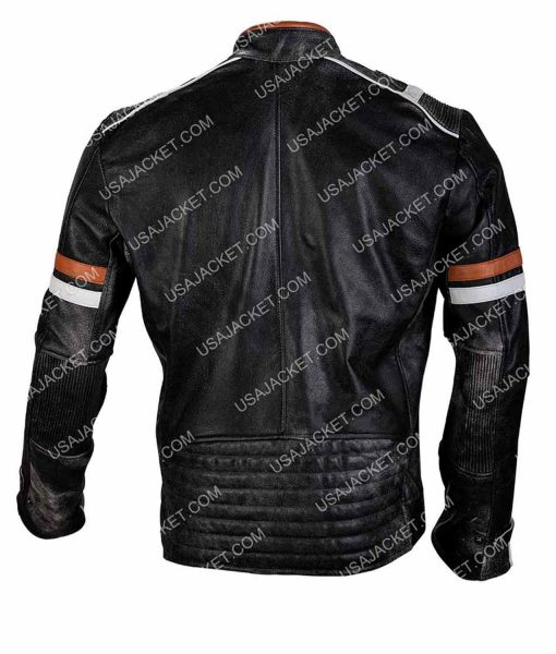 Black Cafe Racer Retro Jacket