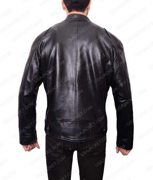 Mens Café Racer Black Slimfit Leather Jacket
