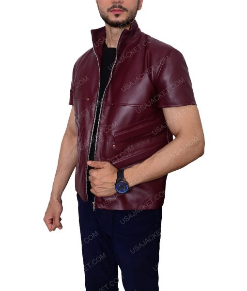 Cafe Racer leather Vest