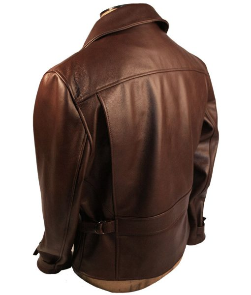 Captain America The First Avenger Brown Motorcycle Jacket