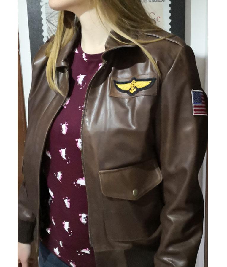 c309a364d Captain Marvel Carol Danvers Flight Bomber Jacket (Free T- Shirt)