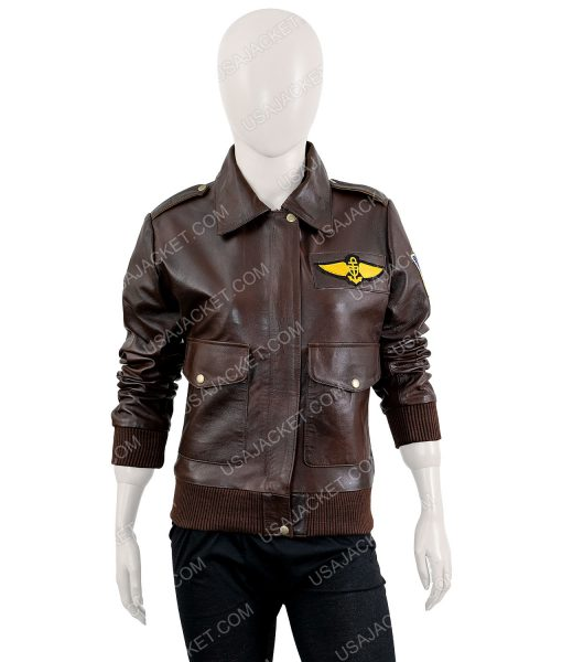 Carol Danvers Flight Bomber Brown Jacket