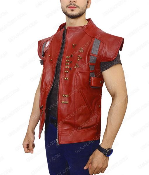 Peter Quill Guardians of The Galaxy Star Lord Leather Vest
