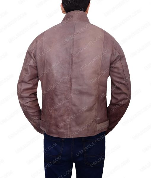 Creeley Turner Damnation Logan Marshall Brown Leather Jacket