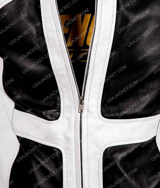 Deadpool 2 Leather Lewis Tan Zipper Jacket