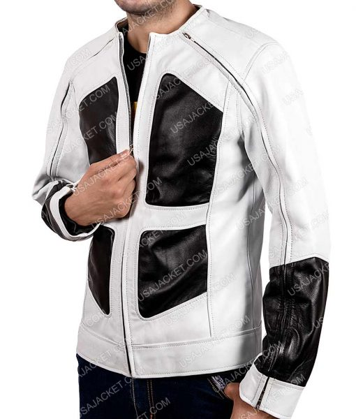 Shatterstar Deadpool 2 Lewis Tan Leather Jacket