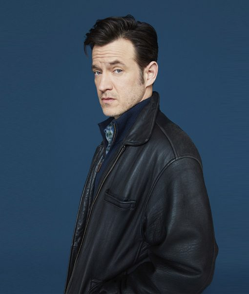 Detective Dominic Dietland Adam Rothenberg Dark Brown Leather Jacket