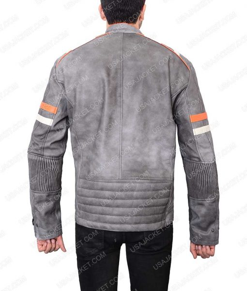 Mens Mayhem Retro Café Racer Leather Jacket